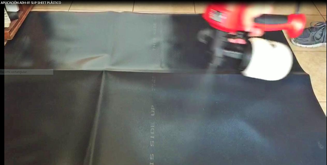 Aplicación Antiderrapante a Slip Sheet Plástico